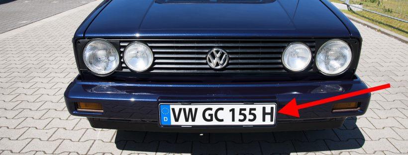 Golf 1 Cabrio H Kennzeichen